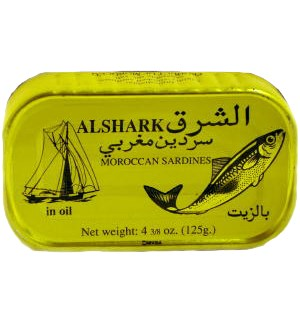 ALSHARK SARDINE SWEET IN OIL 125G