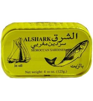 ALSHARK SARDINE SWEET IN OIL 125G