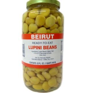 BEIRUT LUPINI BEANS 32 OZ