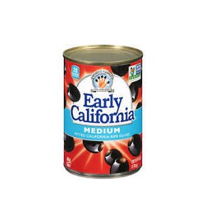 EARLY CALIFORNIA PITTED BLACK OLIVES MEDIUM 6oz