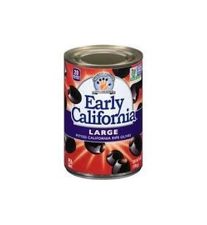 EARLY CALIFORNIA PITTED BLACK OLIVES LARGE 6oz