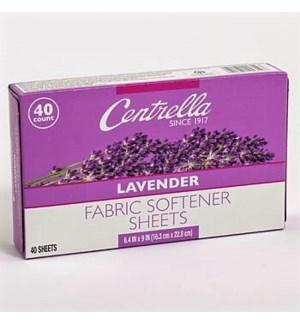 CENTRRELLA FABRIC SOFTENER LAVENDER 40 CT