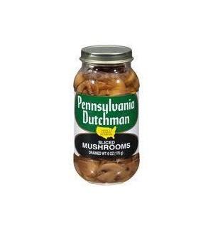 PENNSY-DUTCH SLICED MUSHROOMS (JAR) 4.5OZ