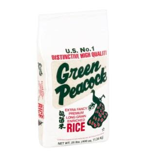 PEACOCK RICE 25 LBS