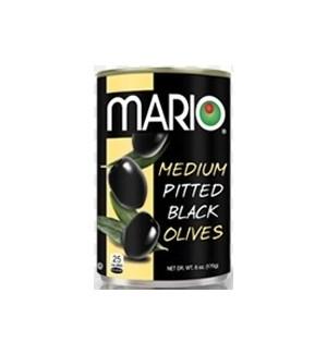 MARIO BLACK OLIVES MEDIUM 6OZ