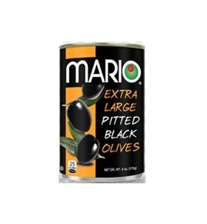 MARIO BLACK OLIVES EXTRA LARGE 6OZ