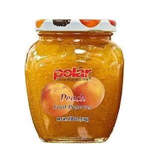 POLAR FRUIT PRESERVES PEACH 8.5 oz