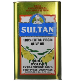 SULTAN EXTRA VIRGIN OLIVE OIL 1 GAL CAN BLUE