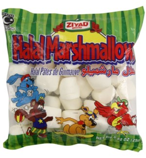 ZIYAD HALAL MARSHMELLOWS 8.82OZ