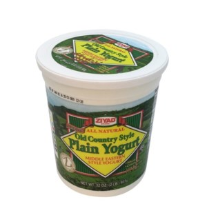 ZIYAD OLD COUNTRY STYLE PLAIN YOGURT 32OZ