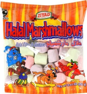 ZIYAD HALAL FRUIT FLAVORED MARSHMELLOWS 8.82OZ PKG