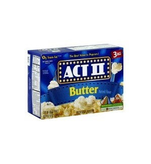 ACT 2 POPCORN BUTTER 3CT  12/CASE