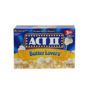 ACT 2 POPCORN BUTTER LOVERS 3CT  12/CASE