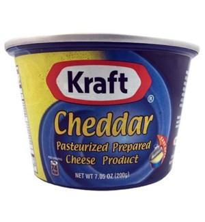 KRAFT CHEDDAR CHEESE 6.7 OZ CAN