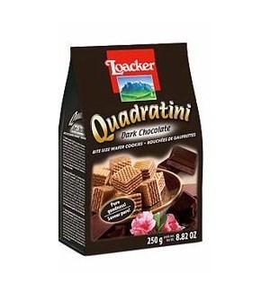 LOACKER QUADRATINI CHOCOLATE WAFER BAG 250 G 6/CASE