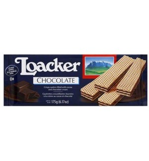 LOACKER FAMILY WAFER CHOCOLATE 175 G 18/CASE