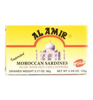 AL AMIR HOT MOROCCAN SARDINES 4.5OZ YELLOW