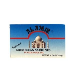 ALAMIR MOROCCAN SARDINES IN VEG OIL 125 G