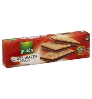 GULLON CHOCO WAFER COOKIES 150 G 16/CASE