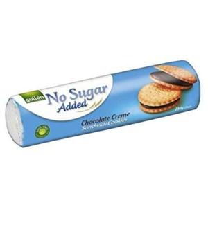 GULLON NO ADDED SUGAR CHOCOLATE CREAM SANDWICH COOKIE 250 G 18/CASE
