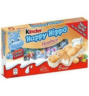 KINDER HAPPY HIPPO HAZELNUT 5PCS
