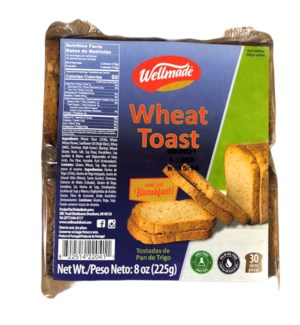 WELLMADE TOAST WHOLE WHEAT 225 G