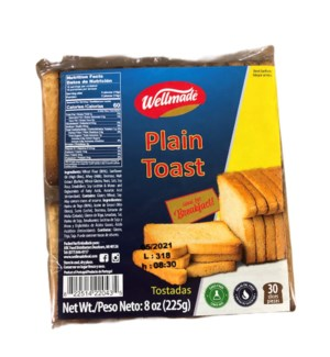WELLMADE PLAIN TOAST 8OZ