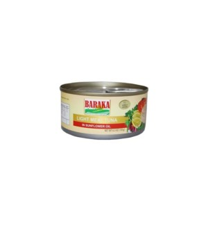 BARAKA SUNFLOWER OIL TUNA 185G