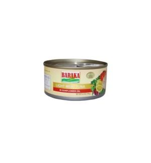 BARAKA SUNFLOWER OIL TUNA 185G