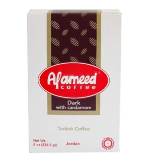 ALAMEED DARK COFFEE/CARDAMON 1/2 LB.