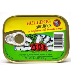 BULLDOG SARD IN OIL 3.75OZ