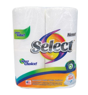 SELECT BATHROOM TISSUES 4 ROLL