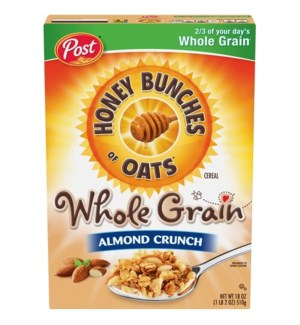 HONEY BUNCHES WHOLE GRAIN HONEY CRUNCHES 18 OZ