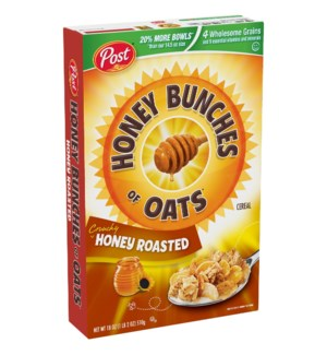 POST HONEY BUNCHES OF OATS HONEY ROASTED 18OZ