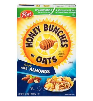 POST HONEY BUNCHES OF OATS ALMONDS 18OZ
