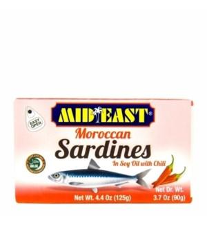 MIDEAST SARDINES W/CHILI 125G
