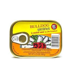 BULLDOG SARDINES IN MUSTARD 3.75OZ