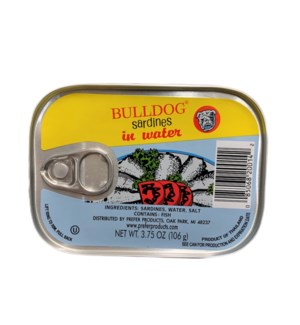 BULLDOG SARDINES IN WATER 3.75OZ