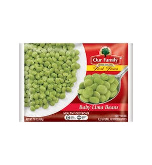 OUR FAMILY FROZEN BABY LIMA BEANS 12 OZ