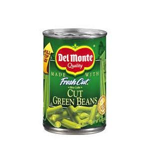 DEL MONTE VEGETABLES CUT GREEN BEANS 14.50 OZ