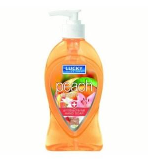 LUCKY LIQ. SOAP PEACH DREAM ANTI-BAC. 13.5 OZ