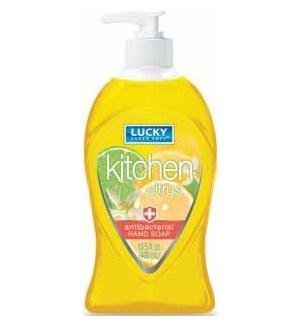 LUCKY LIQ. SOAP KITCHEN CITRUS ANTI-BA 13.5 OZ