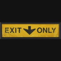 EB Exit Only