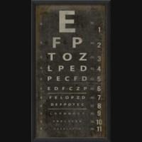 EB Eye Chart III on black