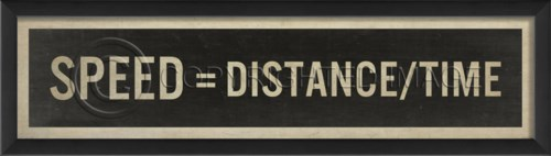 EB Speed equals Distance divided by Time