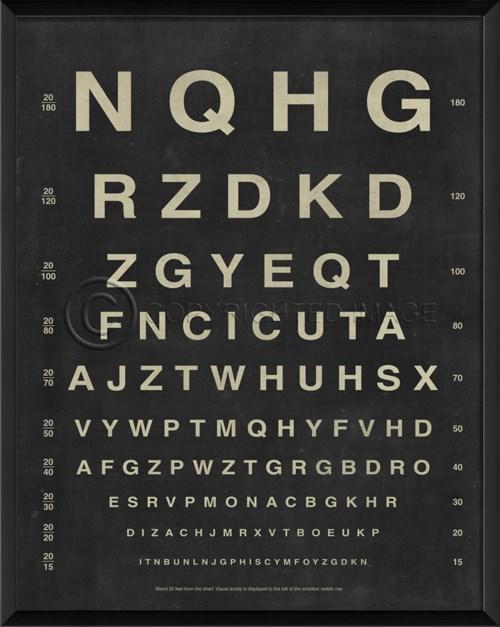 EB Eye Chart Letters
