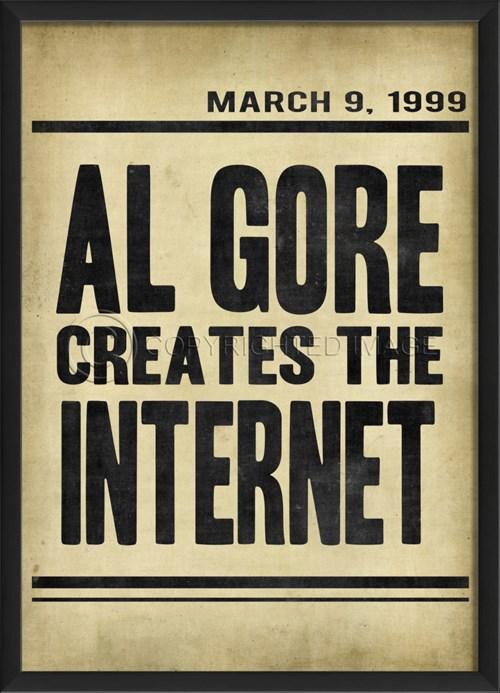 EB Headline Al Gore Creates Internet