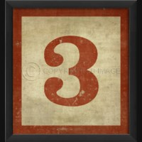 EB Number 3 in Red