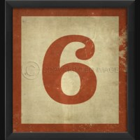 EB Number 6 in Red