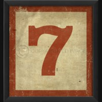 EB Number 7 in Red
